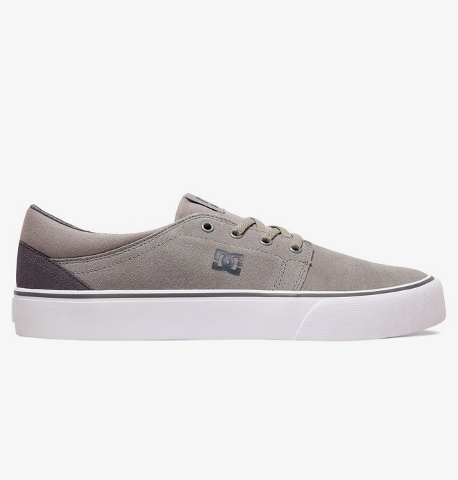 0 Trase - Suede Shoes for Men Grey ADYS300172 DC Shoes