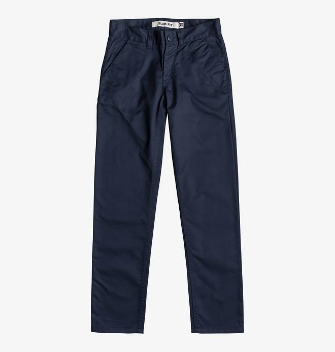 0 Worker - Pantalon chino slim pour Garçon 8-16 ans Bleu EDBNP03021 DC Shoes