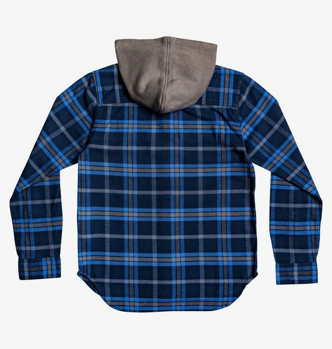 Runnels - Long Sleeve Hooded Flannel Shirt  EDBWT03046