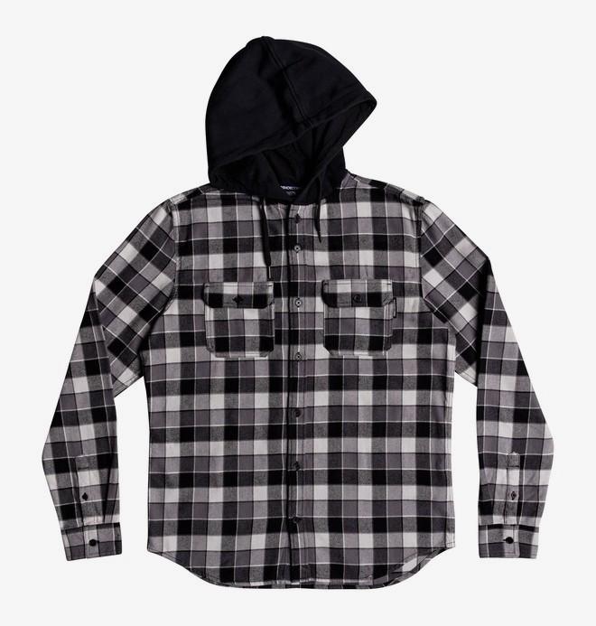 Runnels - Long Sleeve Hooded Flannel Shirt EDBWT03046