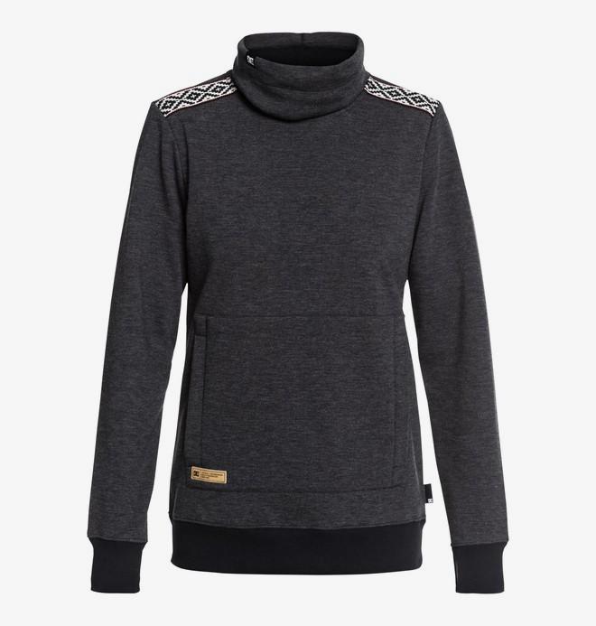 0 Veneer - Technische sweater met col voor Dames Black EDJFT03059 DC Shoes