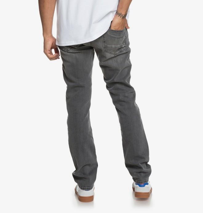 Worker Medium Grey - Straight Fit Jeans for Men  EDYDP03375