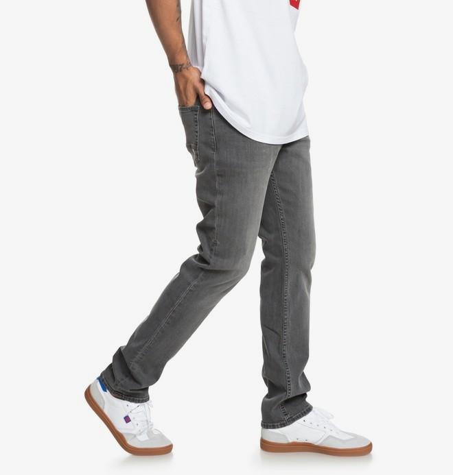0 Worker Medium Grey - Straight Fit Jeans for Men Black EDYDP03375 DC Shoes