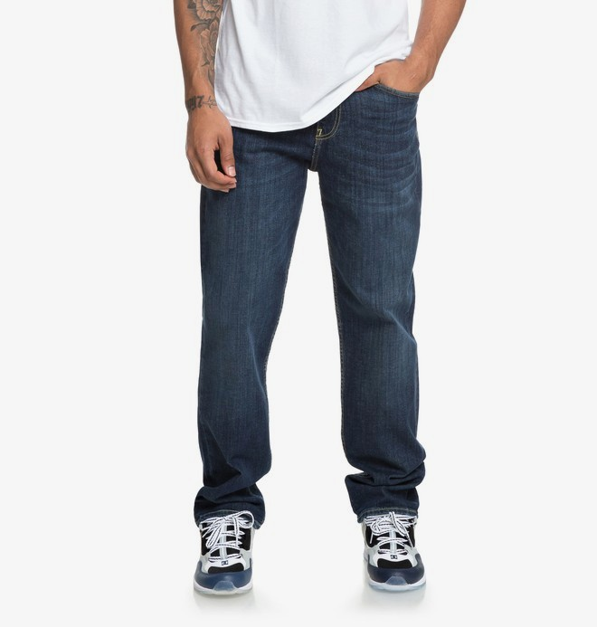 0 Worker Medium Stone - Relaxed Fit Jeans for Men Blue EDYDP03381 DC Shoes