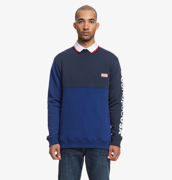 0 Clewiston - Sweatshirt pour Homme Bleu EDYFT03404 DC Shoes