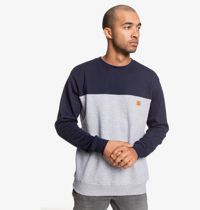 0 Rebel - Sweatshirt for Men Blue EDYFT03456 DC Shoes