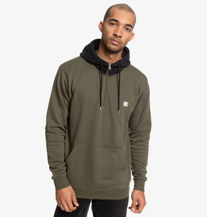 0 Rebel - Half-Zip Hoodie for Men Brown EDYFT03457 DC Shoes