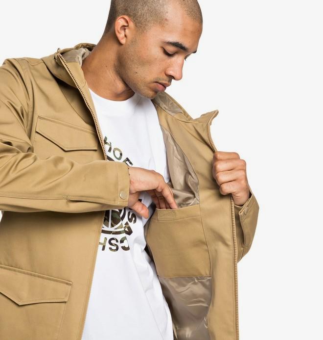 Mastaford - Water-Resistant Hooded Field Jacket for Men  EDYJK03196