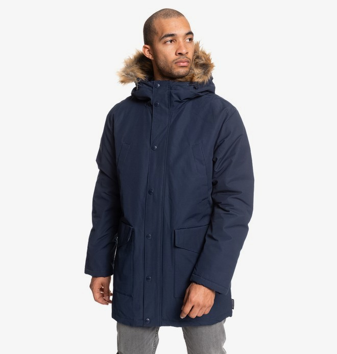 0 Bamburgh - Water-Resistant Hooded Parka for Men Blue EDYJK03212 DC Shoes