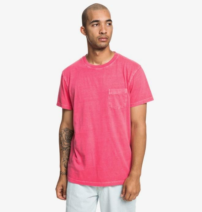 0 Dyed - T-shirt avec poche pour Homme Rose EDYKT03442 DC Shoes