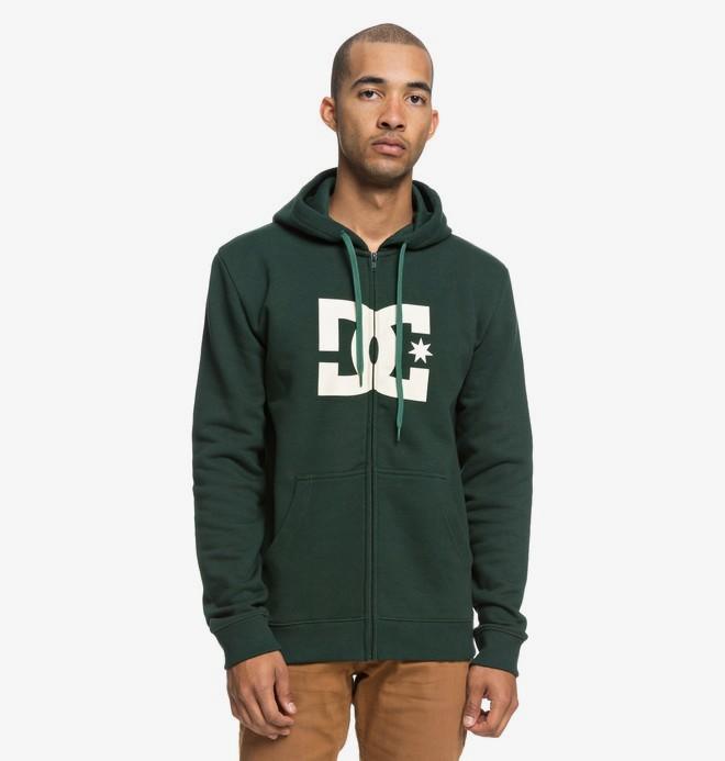 0 Star - Sweat à capuche zippé pour Homme Vert EDYSF03173 DC Shoes