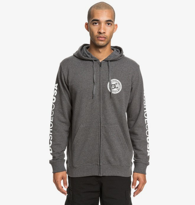 0 Circle Star - Sweat à capuche zippé pour Homme Noir EDYSF03194 DC Shoes