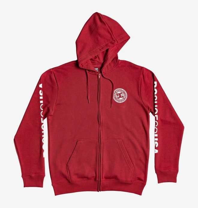 0 Circle Star - Zip-Up Hoodie for Men Red EDYSF03216 DC Shoes
