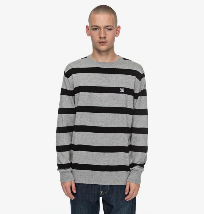 0 Sabotage Stripe - Pull pour Homme Noir EDYSW03024 DC Shoes