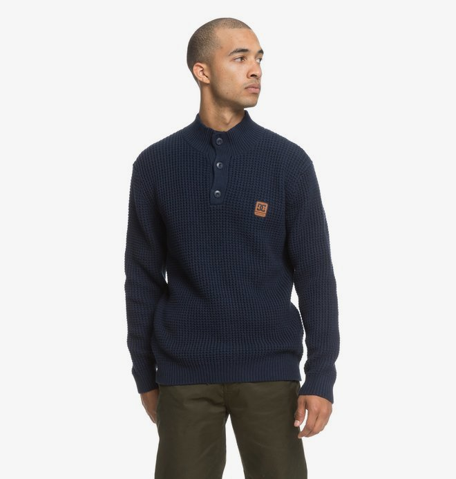 0 Bell Shaw - Pull col rond pour Homme Bleu EDYSW03033 DC Shoes