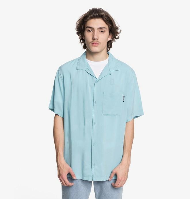 0 Whinney - Short Sleeve Resort Shirt for Men Blue EDYWT03189 DC Shoes