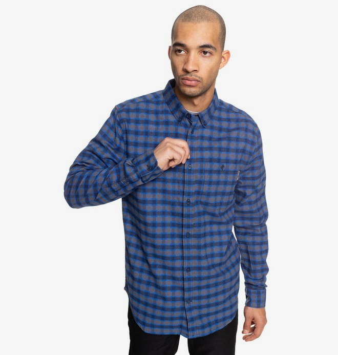0 Northboat - Camisa de manga larga para Hombre Azul EDYWT03208 DC Shoes