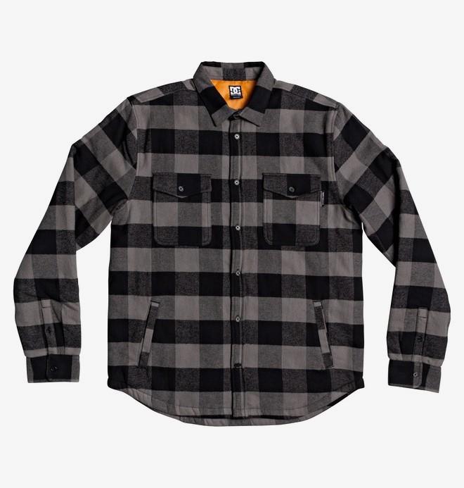 0 Landfilled - Langärmliges Überhemd für Männer Schwarz EDYWT03233 DC Shoes