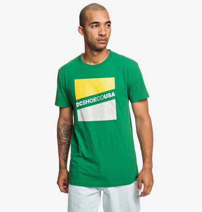0 Slant - T-Shirt voor Heren Green EDYZT03936 DC Shoes