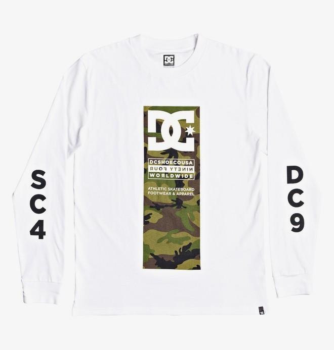 0 Protocol - T-shirt manches longues pour Homme Blanc EDYZT04049 DC Shoes