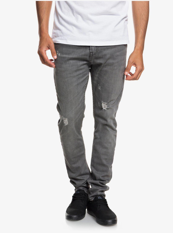 schnelle Farbe Sonderkauf angenehmes Gefühl Low Bridge Grey Damaged - Slim Fit Drop Crotch Jeans for Men