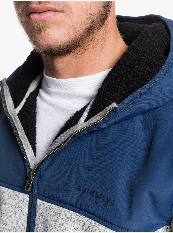 Keller Mix Sweat à capuche zippé en matière polaire pour Homme