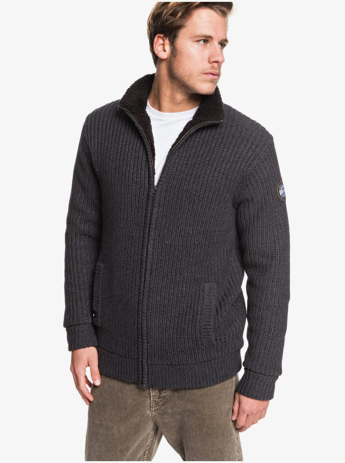 first look on sale new lifestyle Boketto - Pull col montant zippé doublé en sherpa pour Homme