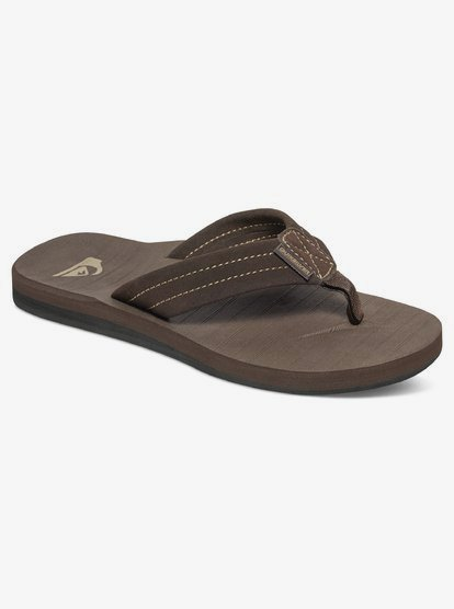 Quiksilver Brown Carver Suede Boys Youth Sandals New with Hang Tag