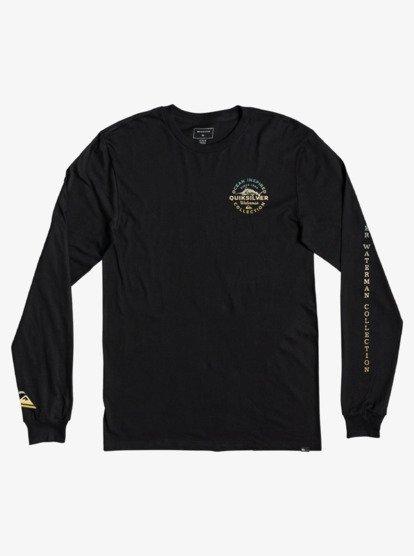 퀵실버 티셔츠 Quiksilver Fine Line Long Sleeve T-Shirt AQMZT03525,BLACK kvj0
