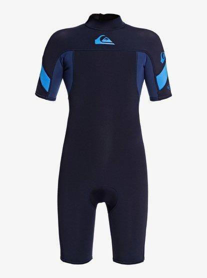 Short Sleeve Back Zip Flt Springsuit for Boys 8-16 Short Sleeve Back Zip Flt Springsuit Quiksilver Boys 2//2Mm Syncro