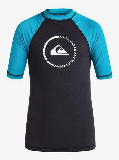 Quiksilver Boys Limited Short Sleeve Youth Rashguard Surf Shirt Rash Guard Shirt