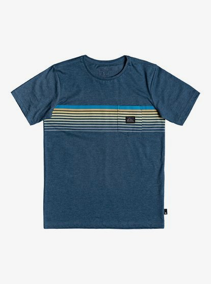 10 Quiksilver Boy/'s  t-shirt blue SMALL