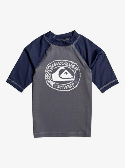 Quiksilver Boys Bubble Dreams Long Sleeve Boy Rashguard UPF 50+