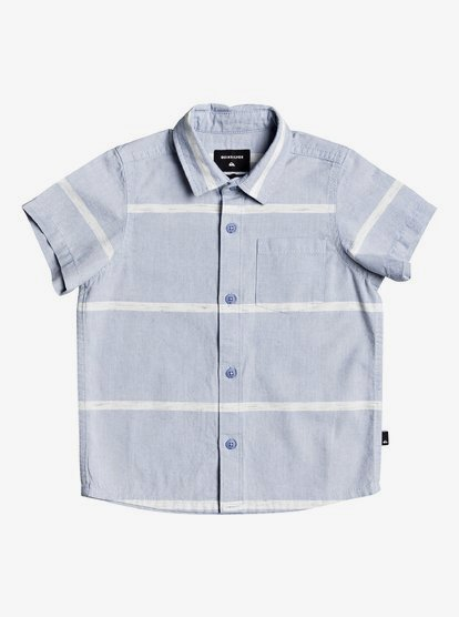 7 For All Mankind Boys Short Sleeve Textured Stripe T-Shirt