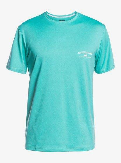 퀵실버 래쉬가드 Quiksilver Gut Check Short Sleeve UPF 50 Surf T-Shirt 194476160754,POOL GREEN gmj0