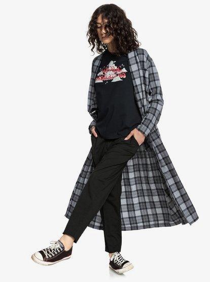 Quiksilver Womens Camisa Envolvente Extra Larga con Manga