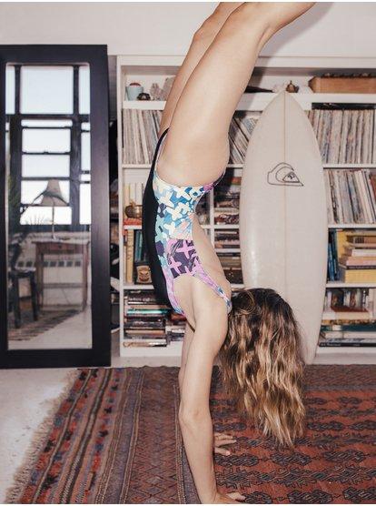 Quiksilver Womens High Leg One Piece Swimsuit