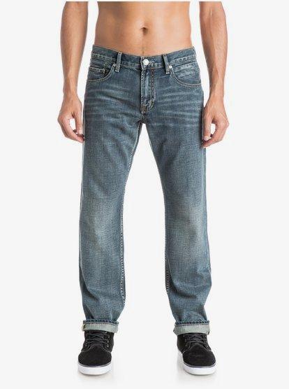 Quiksilver Mens Sequel Vintage Cracked Jeans