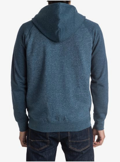 Quiksilver Mens Everyday Zip Up Hoodie Athletic Gray//White