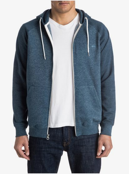 Athletic Gray//White Quiksilver Mens Everyday Zip Up Hoodie