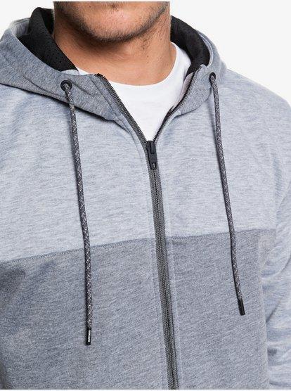 Water-resistant Bonded Zip-up Hoodie for Men Fleece Top Quiksilver Mens Highland Gaze