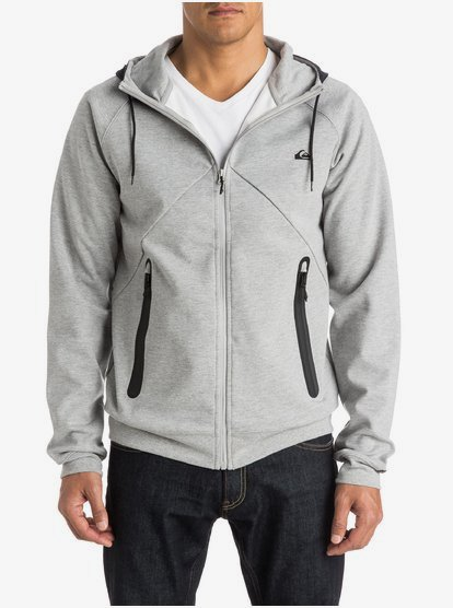 Active Nylon Zip Up Polar Fleece Hoodie EQYPF03010 | Quiksilver