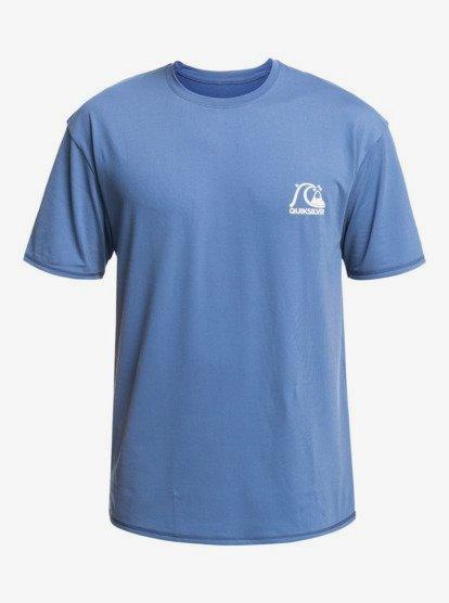 Quiksilver Heritage Short Sleeve Rash Vest in Majolica Blue