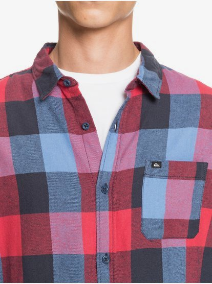 Quiksilver Motherfly Flannel-Chemise Manches Longues pour Homme