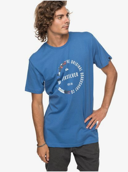 Quiksilver Revenge Tee Bright Cobalt Quiksilver Men/'s Clothing T-Shirts