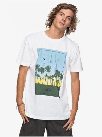 Quiksilver Classic Salina Stars Ss T-shirt blanc