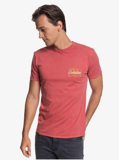 Quiksilver Living on the Edge Short Sleeve T-Shirt in Dusty Cedar