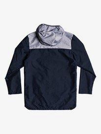 Hazards Rocks - Longline Water-Repellent Hooded Raincoat for Boys 8-16  EQBJK03185