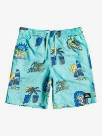 "Island Pulse 14"" - Swim Shorts for Boys 8-16  EQBJV03342"