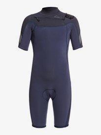 2/2mm Syncro - Chest Zip Short Sleeve Springsuit for Boys 8-16  EQBW503015